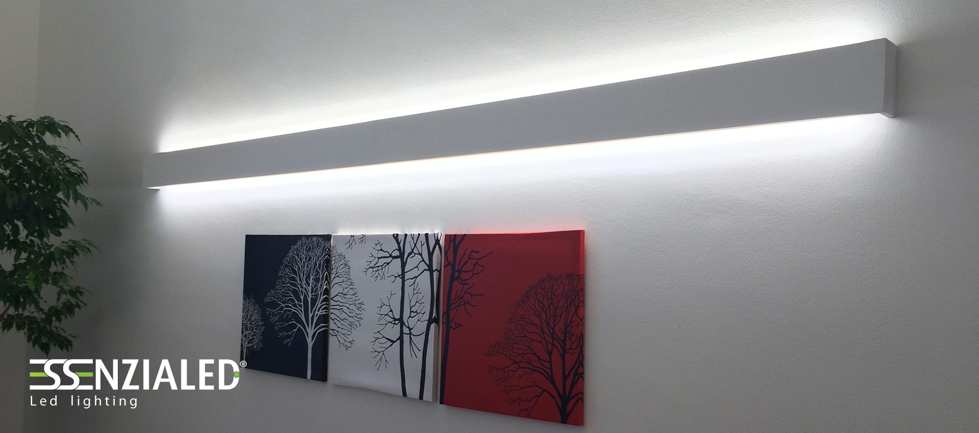 Righello lampada parete in gesso a led prodotta - Lampade a parete design ...