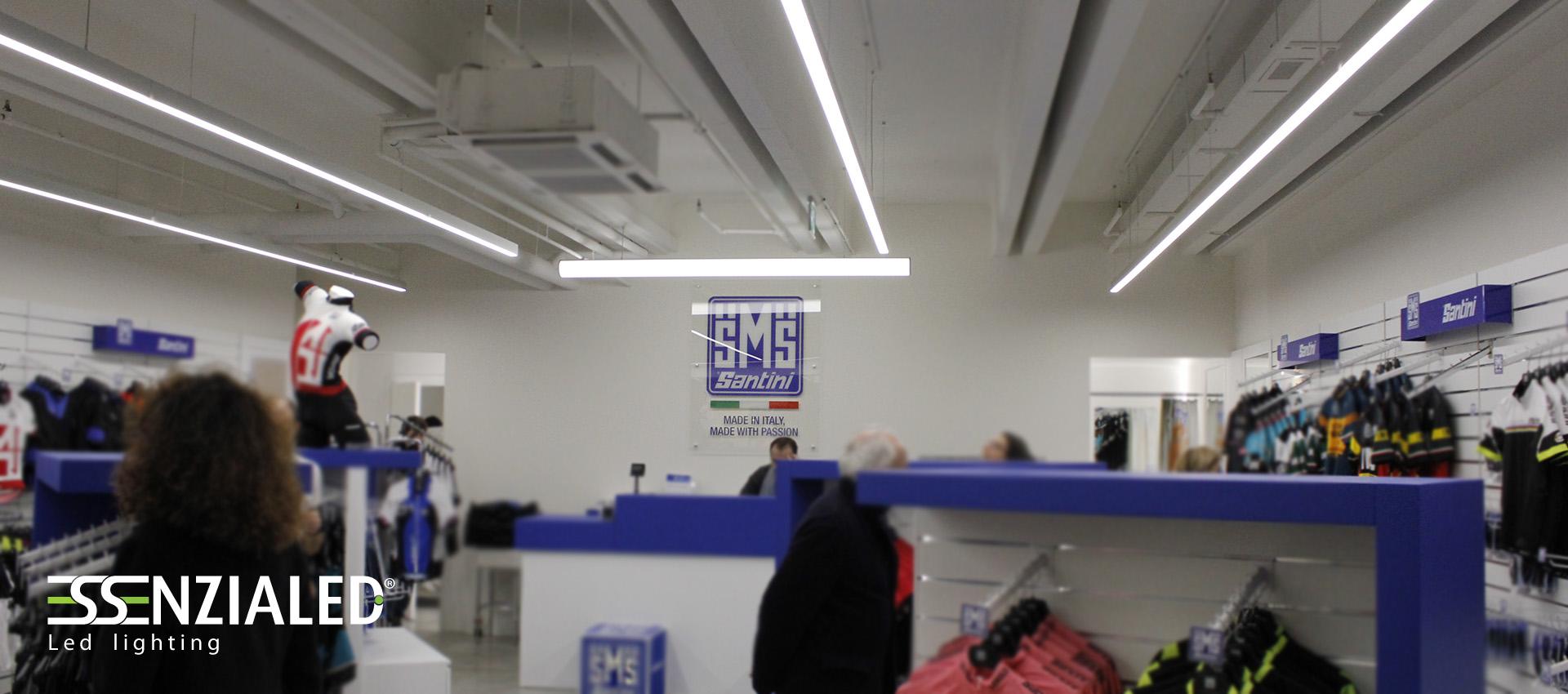 Illuminazione led per negozi made in italy for Lampade a led per interni prezzi