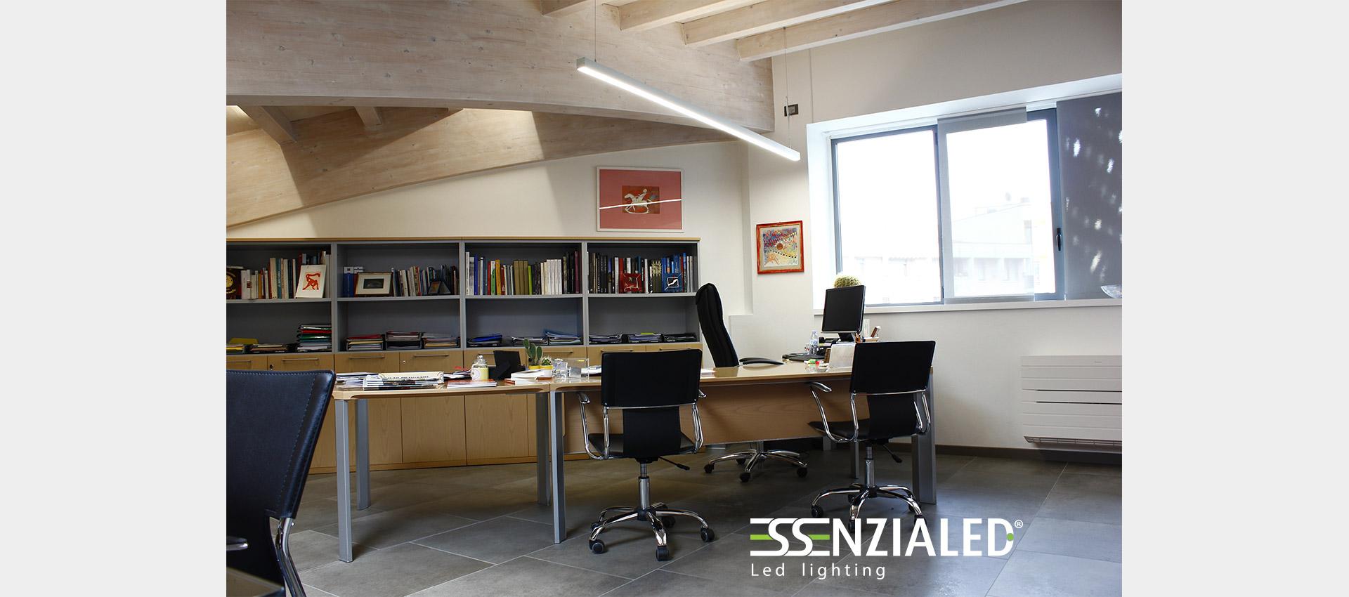 Travi A Vista Illuminazione illuminazione-uffici-travi-a-vista - essenzialed