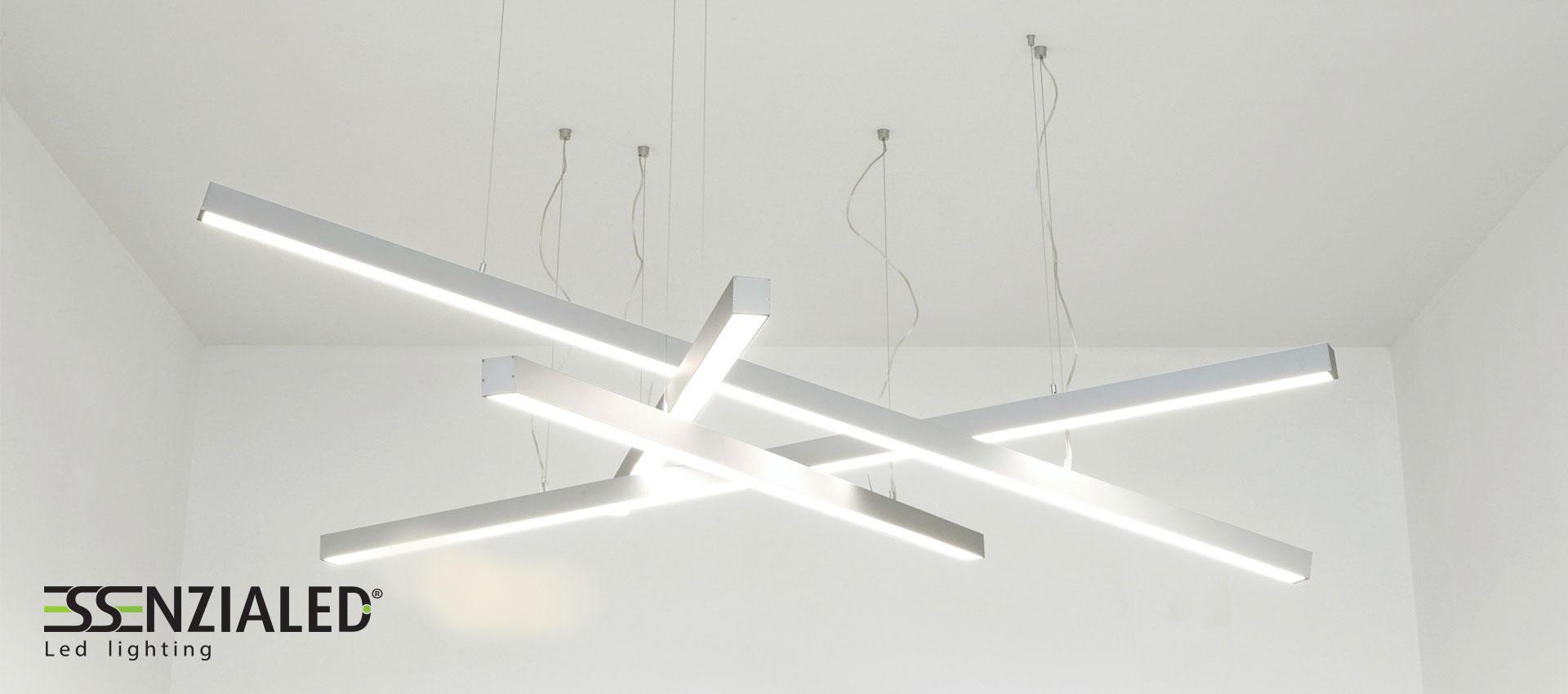 lampadari da ufficio : Illuminazione Led per uffici prodotte su misura MadeinItalyEssenzialed ...