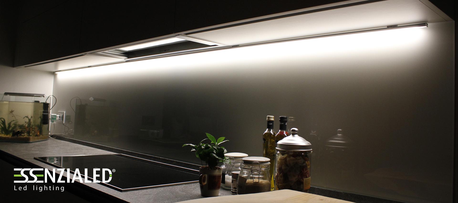Alu h led per mobili certificati ul made in italyessenzialed illuminazione a led - Illuminazione sottopensile cucina ...
