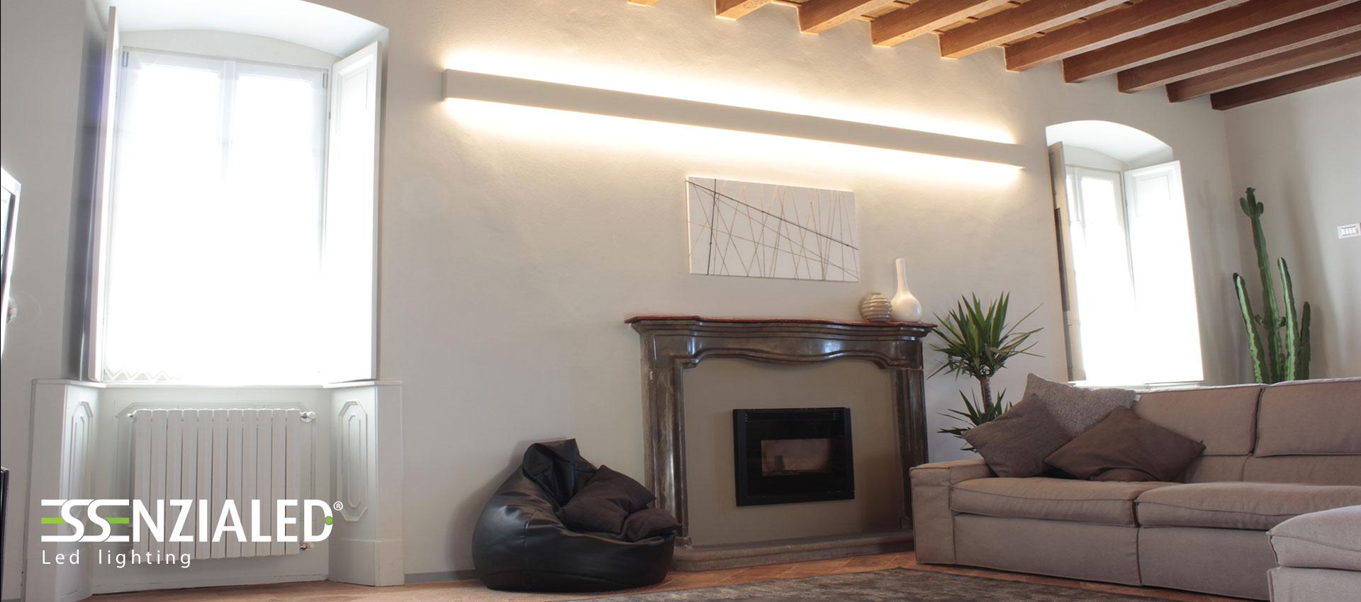 Illuminazione led per abitazioni su misura made in for Soffitto travi a vista illuminazione