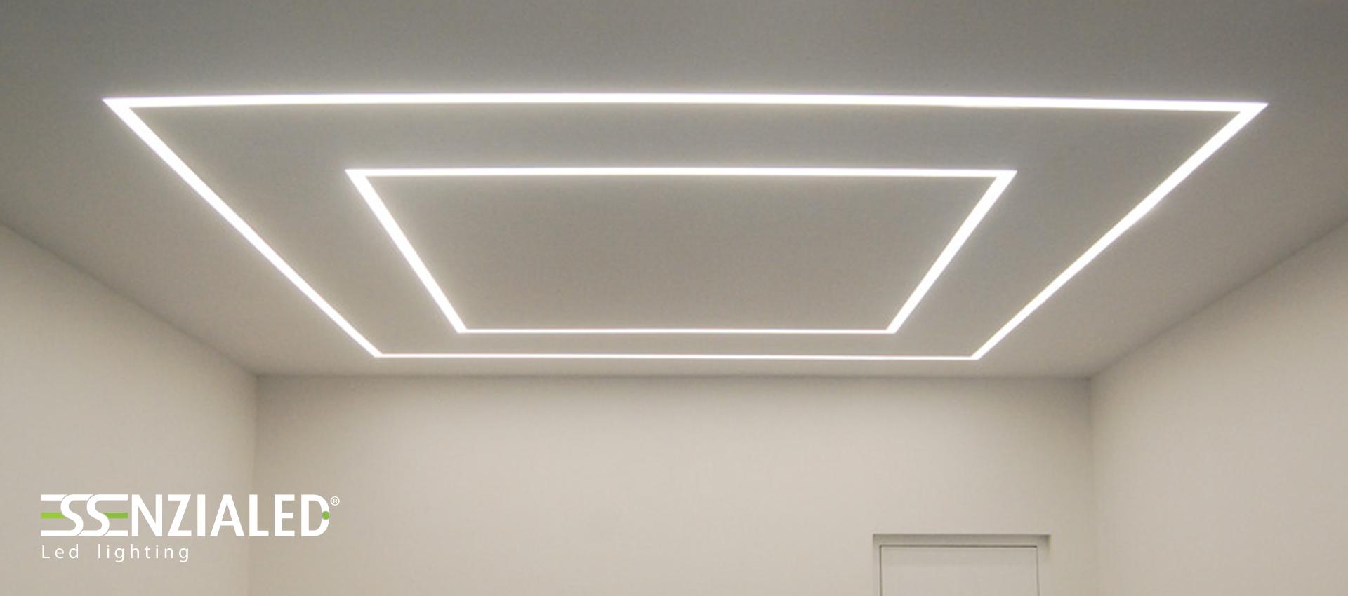 Illuminazione led per uffici prodotte su misura - Luce soffitto bagno ...