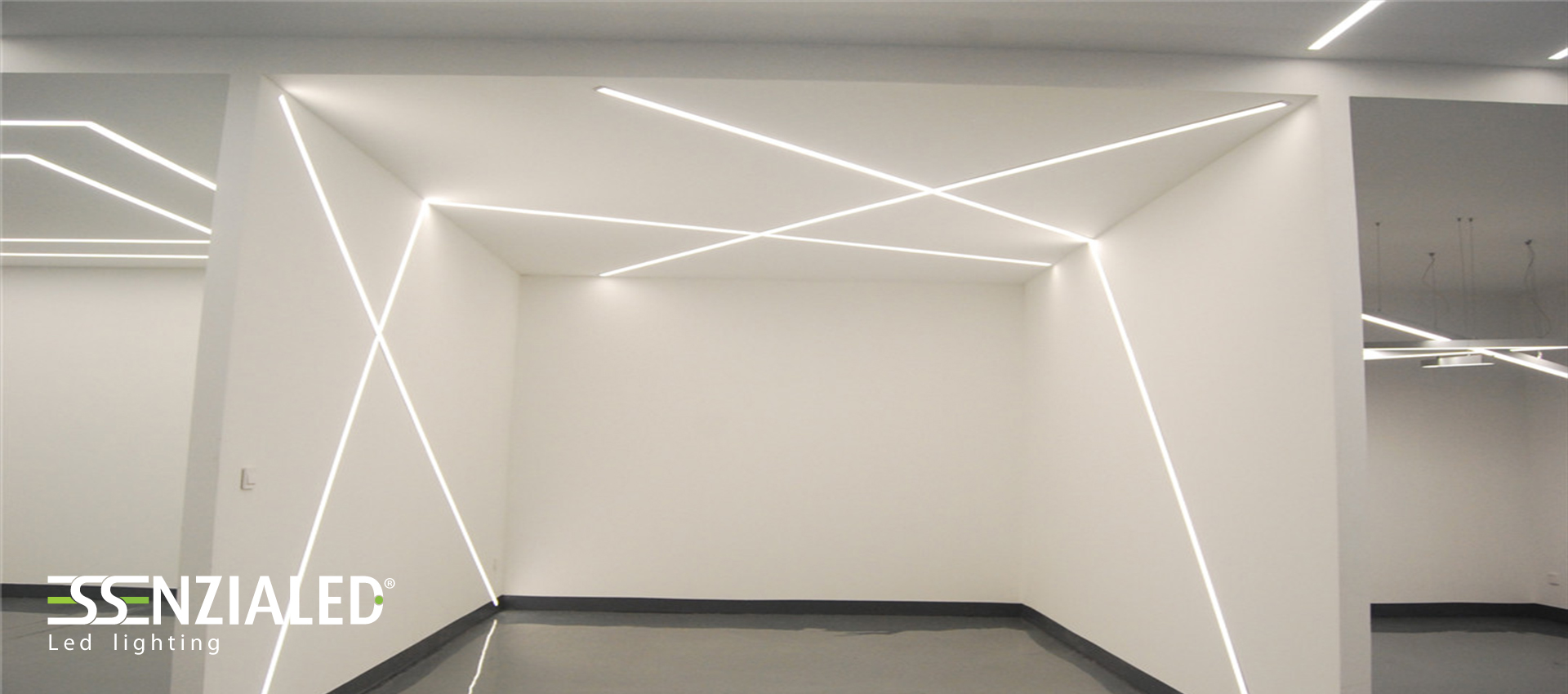 Inside tagli di luce cartongesso a led su for Led controsoffitto