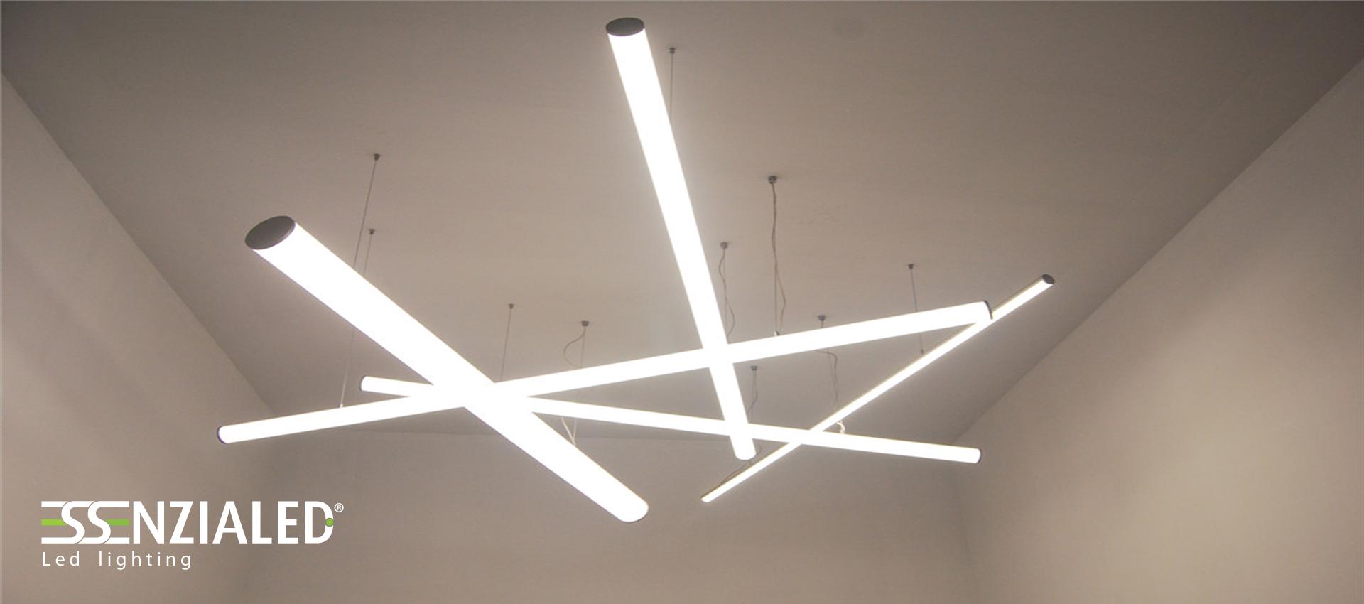 TUBE 6 0   Tubo led sospensione tutta luceEssenzialed  u2013 Illuminazione a led -> Lampadario Sospensione Luce Led