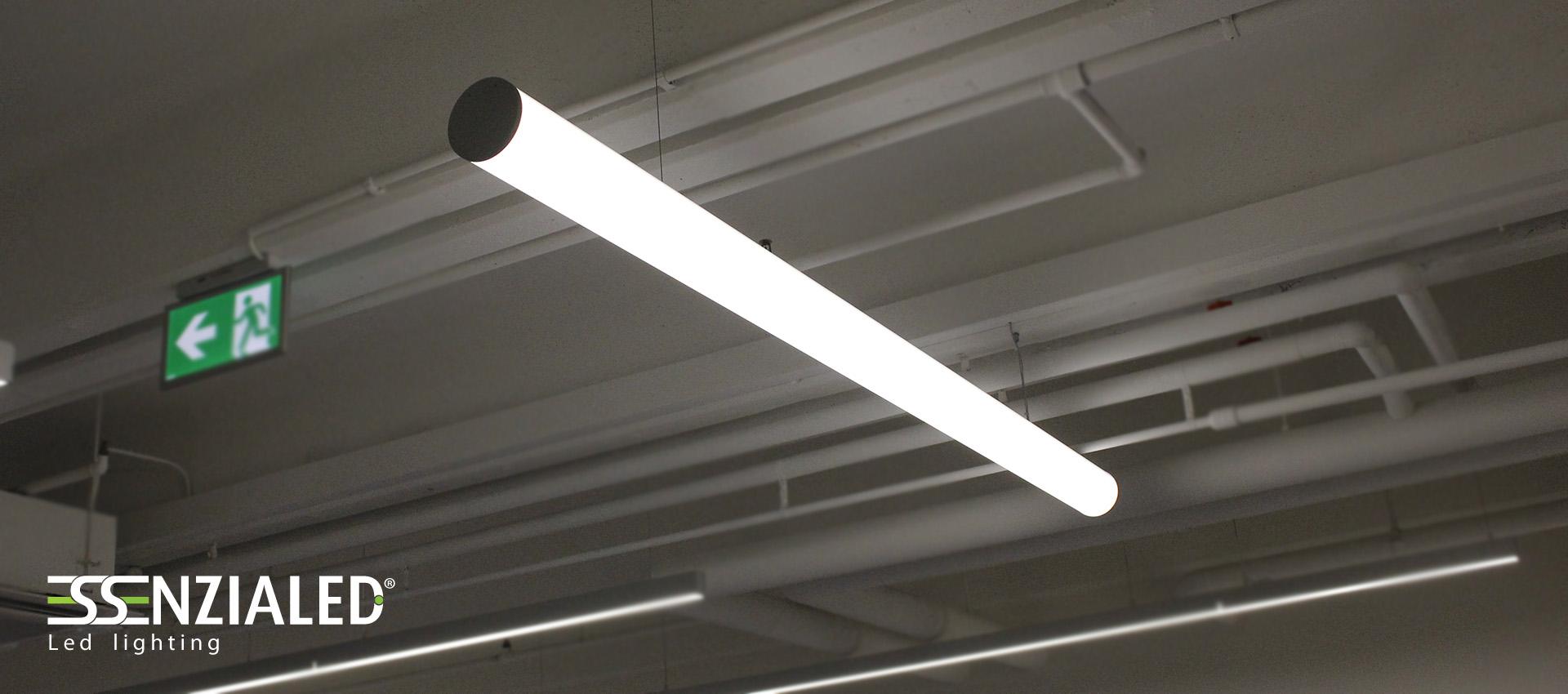 Tube large 12 0 lampada led a sospensione tutta for Lampada tubolare led