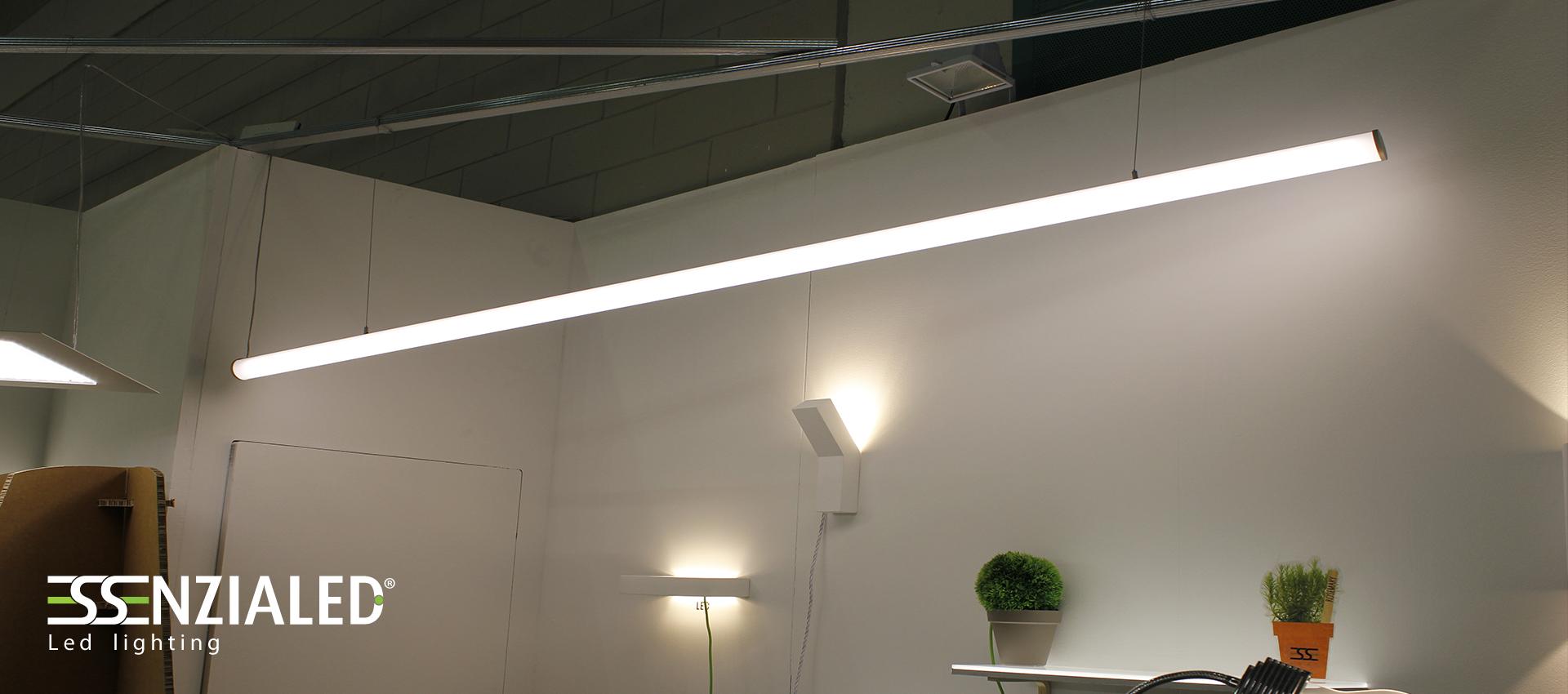 Tube 6 0 tubo led sospensione tutta luceessenzialed for Lampada tubolare led