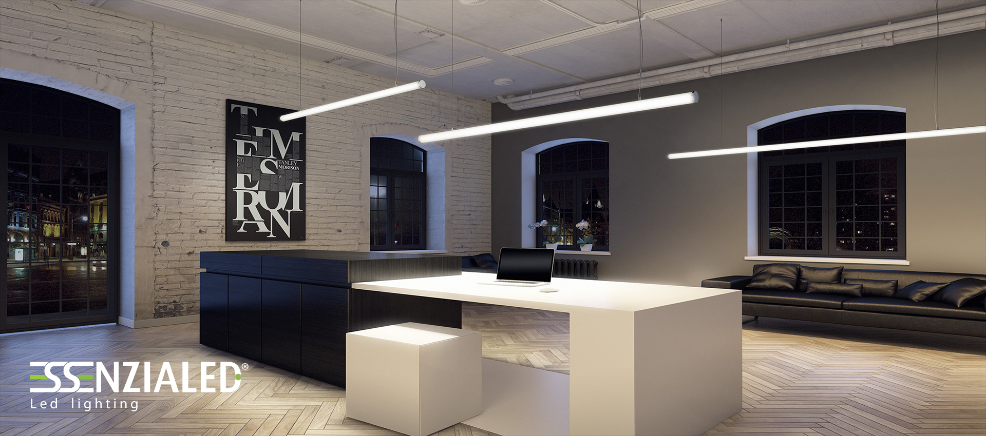 Luci Led Ufficio.Tube 6 0 Led Tube Suspended Is Perfect For Any Type Of