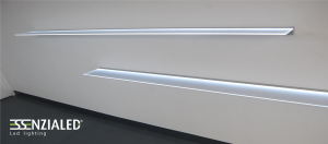 Mensole luminose led su misura essenzialed for Mensole luminose