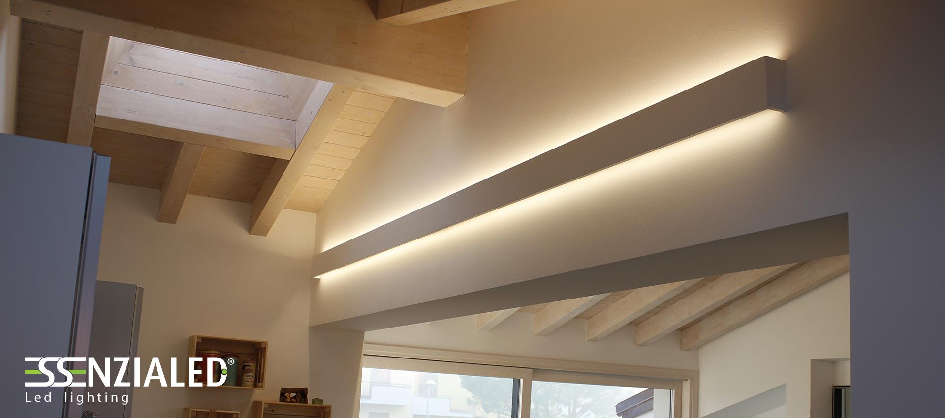 Righello Lampada parete in gesso a led prodotta MadeinItalyEssenzialed – Illuminazione a led