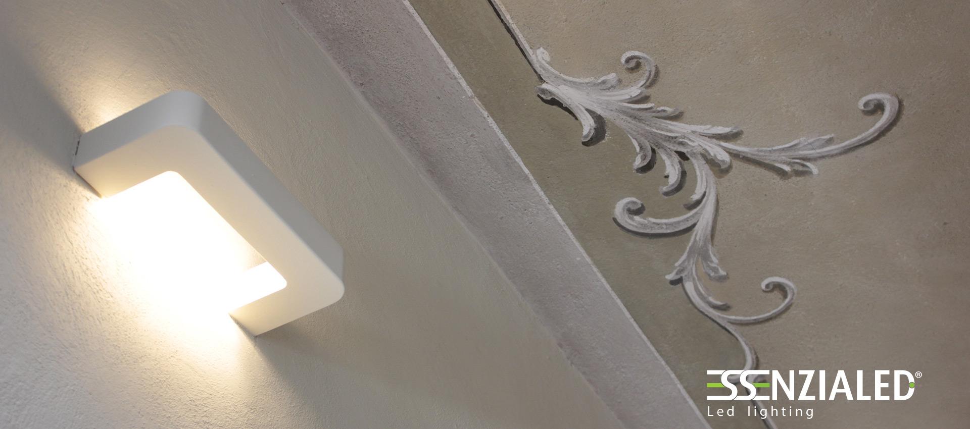 Applique in gesso a led deck essenzialed made in - Applique in gesso da parete ...