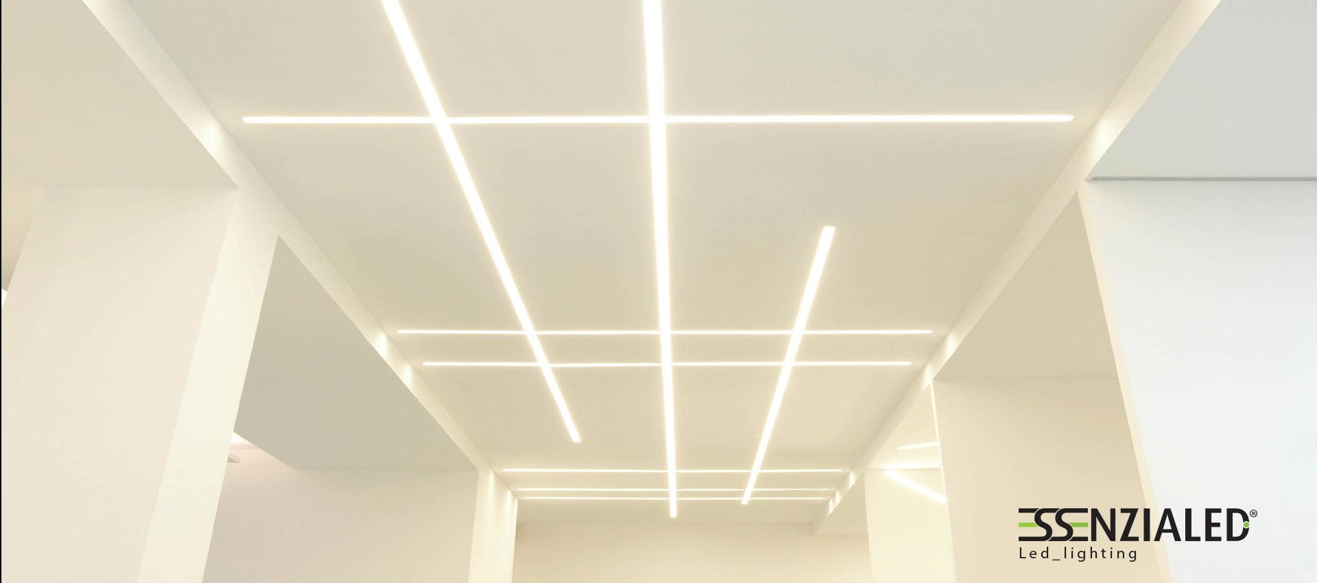 Ghost lampada lineare trimlessessenzialed for Lampada alogena lineare led