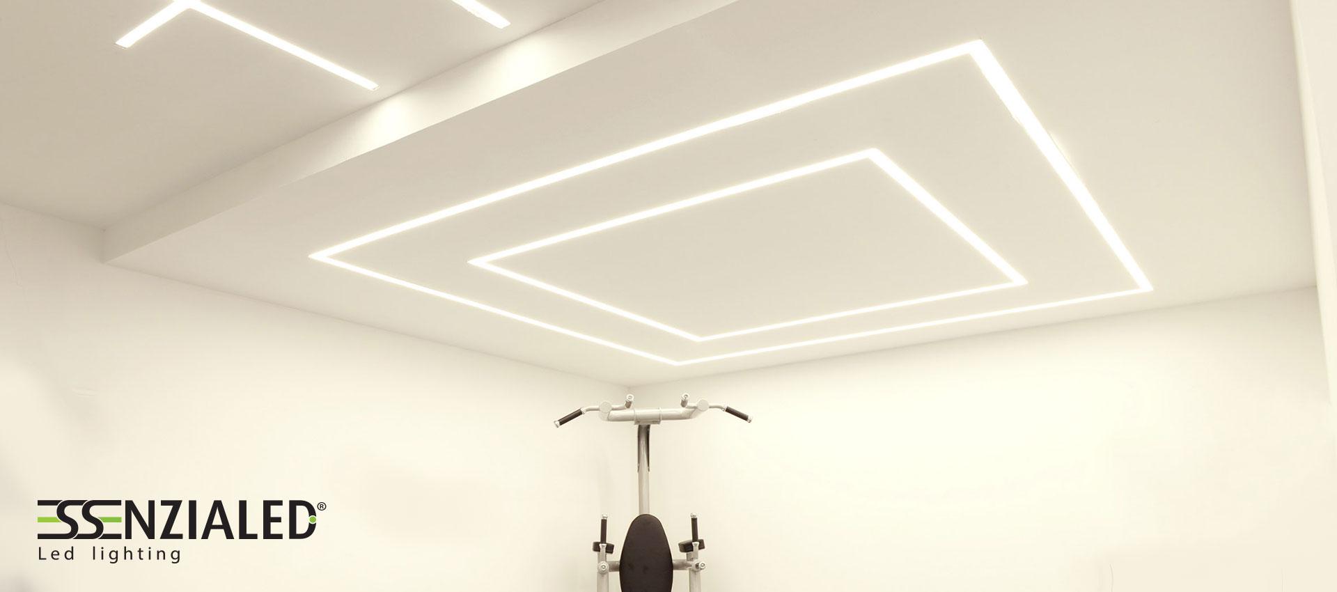Luci Led Ufficio.Inside Recessed Linear Led Profile Essential Light And