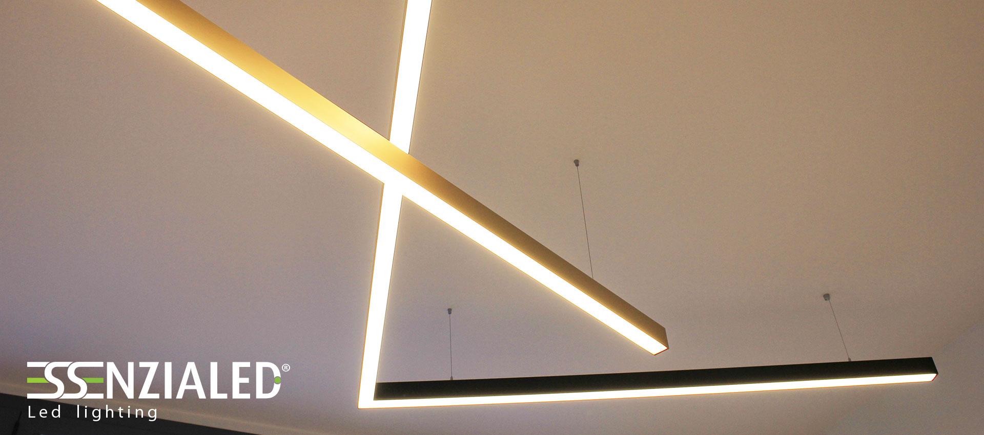 Power in xl profili a led a sospensione essenzialedessenzialed illuminazione a led - Lampadari da interno ...