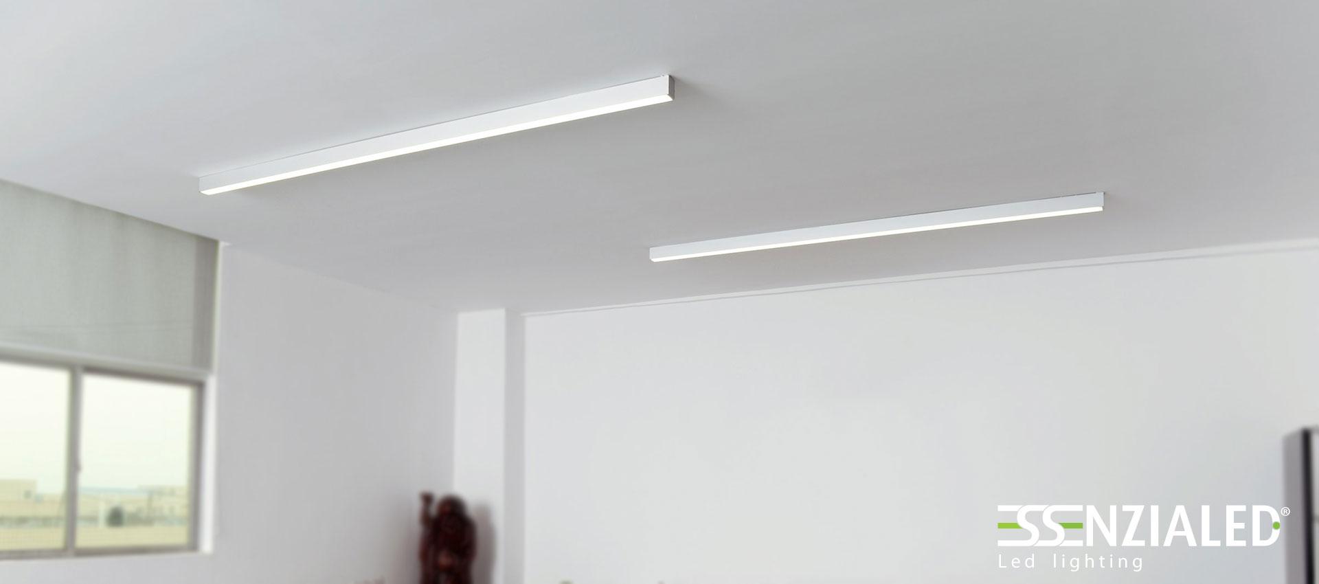 Power in xl profili a led a sospensione essenzialedessenzialed illuminazione a led - Illuminazione bagno led ...