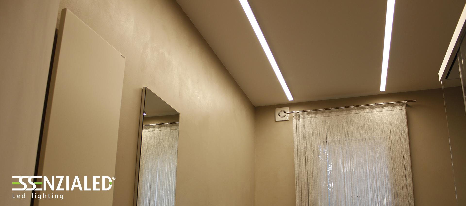 Big lampada lineare led essenzialed su for Illuminazione led a soffitto
