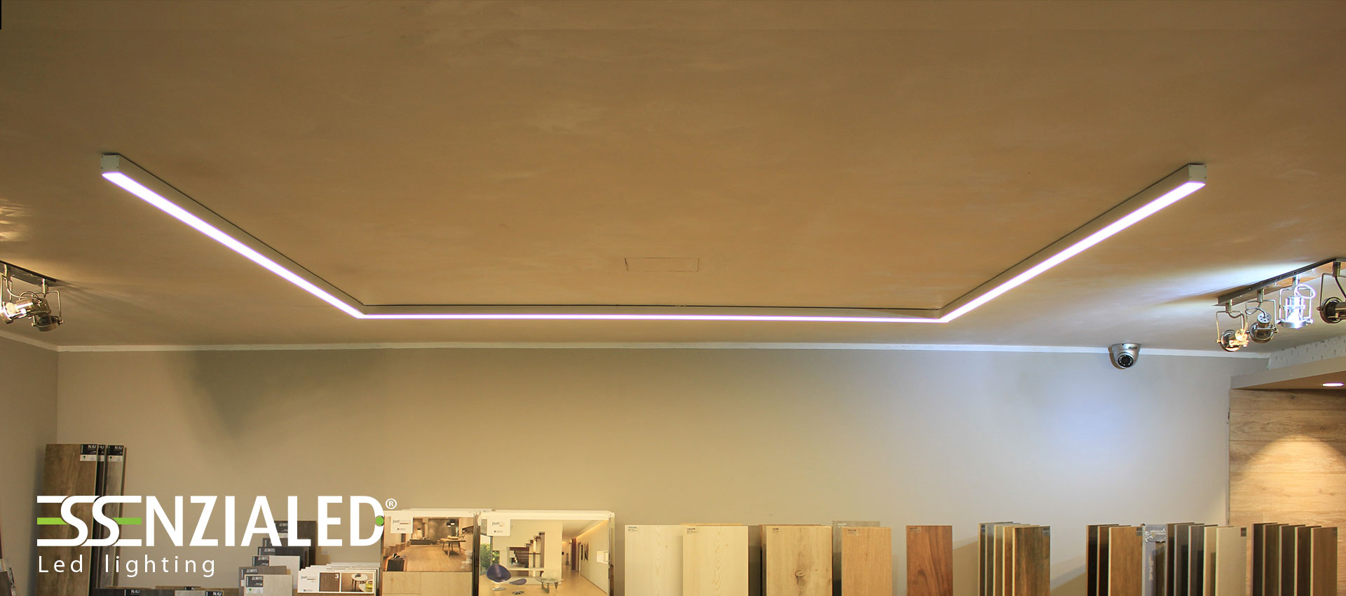 QUADRO led linear profile perfect to be suspended, fixed to ceiling ...