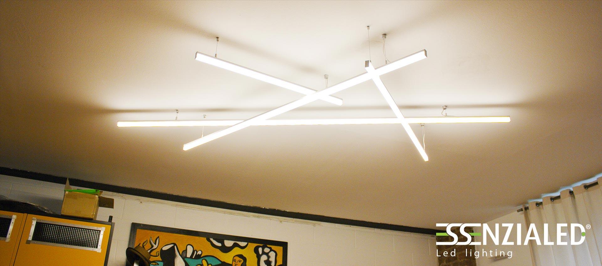 Lampade Sospese A Led.Lampade Sospese Sfalsate Essenzialed Illuminazione A