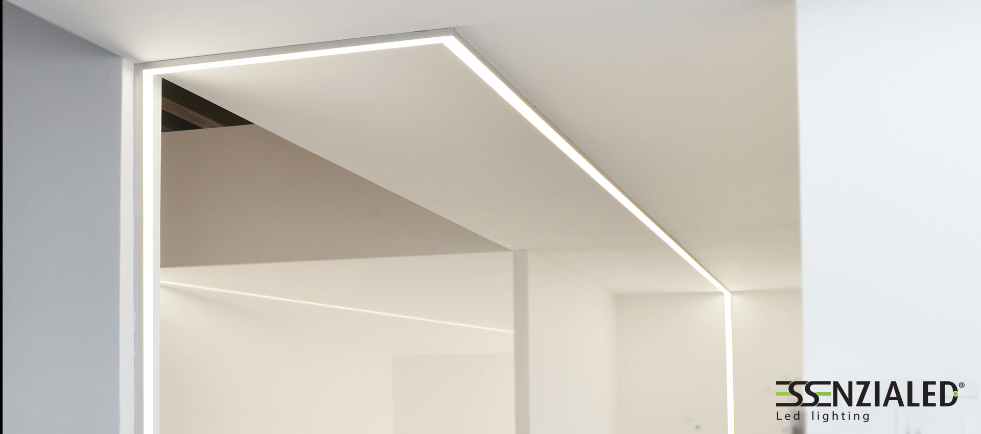 Led linear profile perfect to be suspended, mounted on the ceiling ...