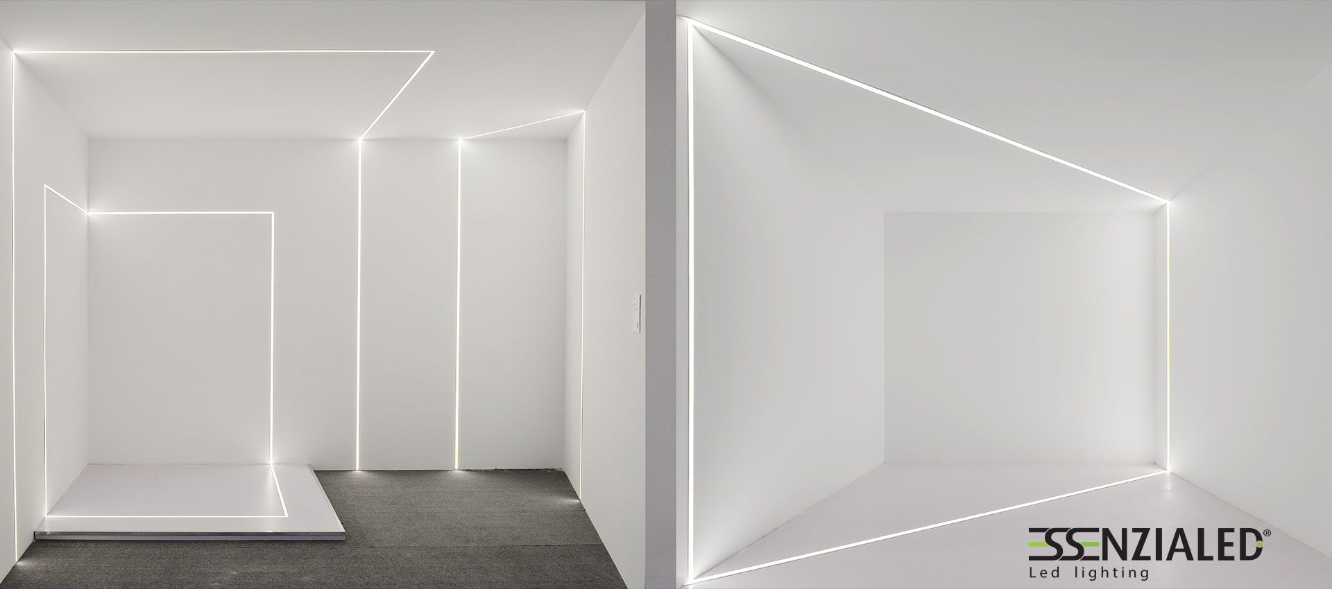 Inside tagli di luce cartongesso a led su misuraessenzialed illuminazione a led - Luci da parete led ...