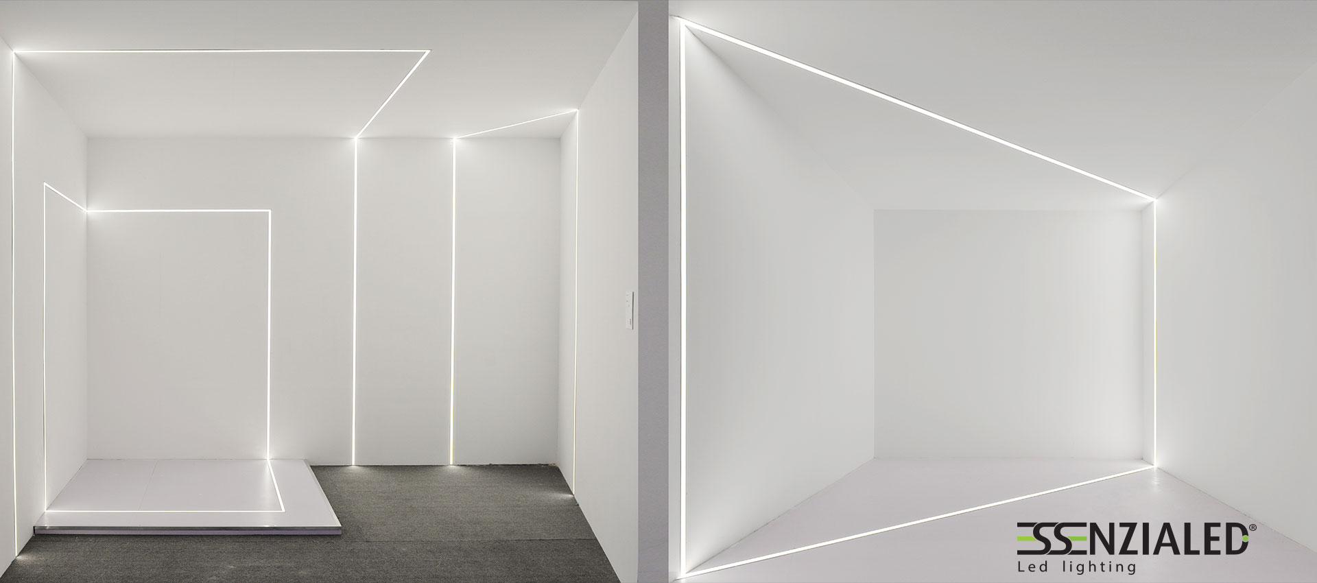 Inside tagli di luce cartongesso a led su misuraessenzialed illuminazione a led - Illuminazione da parete design ...