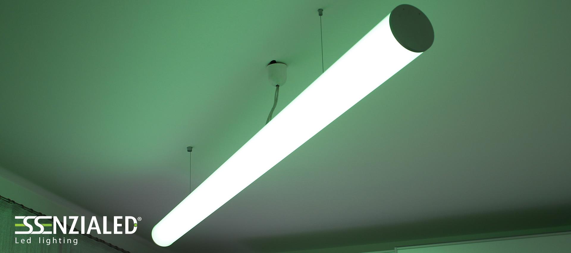 TUBE LARGE 12.0 - Lampada Led a sospensione tutta luceEssenzialed – Illuminazione a led