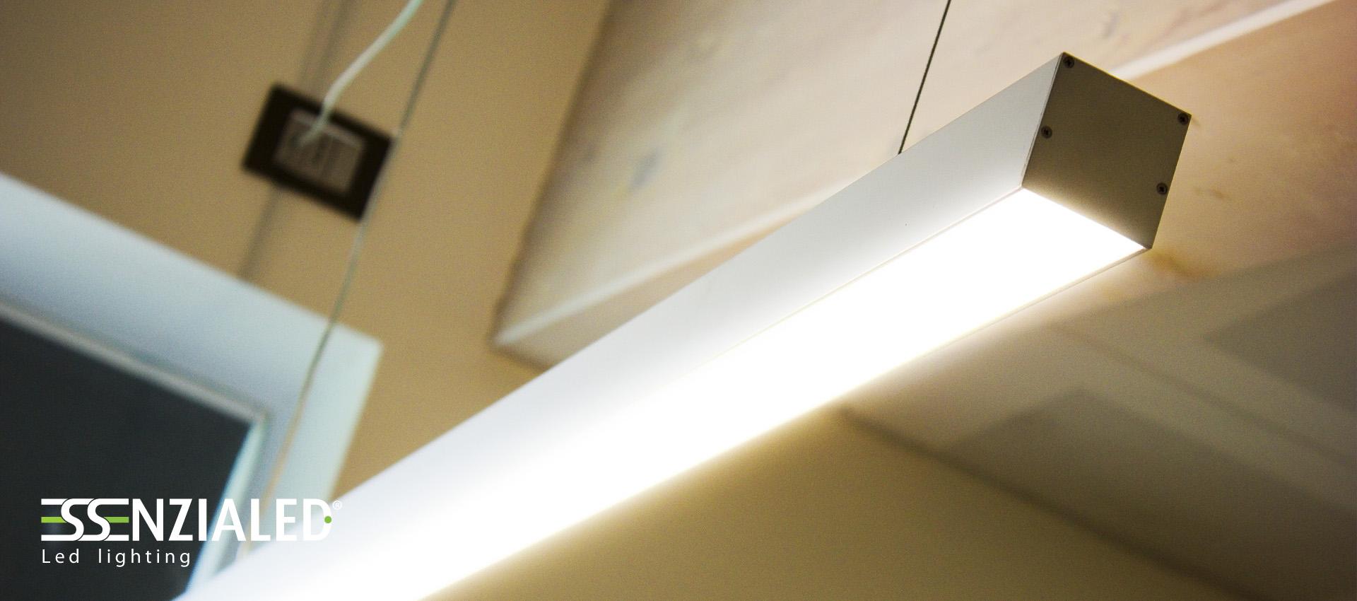 Lampade Sospensione Per Ufficio.Lampada Led Ufficio Sospensione Essenzialed Illuminazione A
