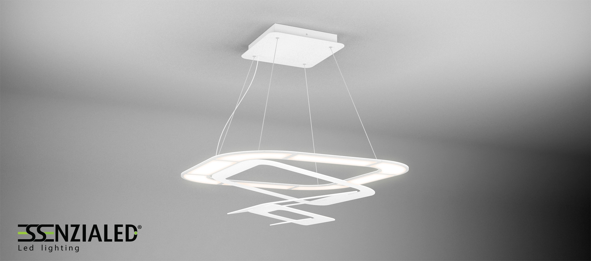Lampada a sospensione ledessenzialed illuminazione a led for Luce da tavolo