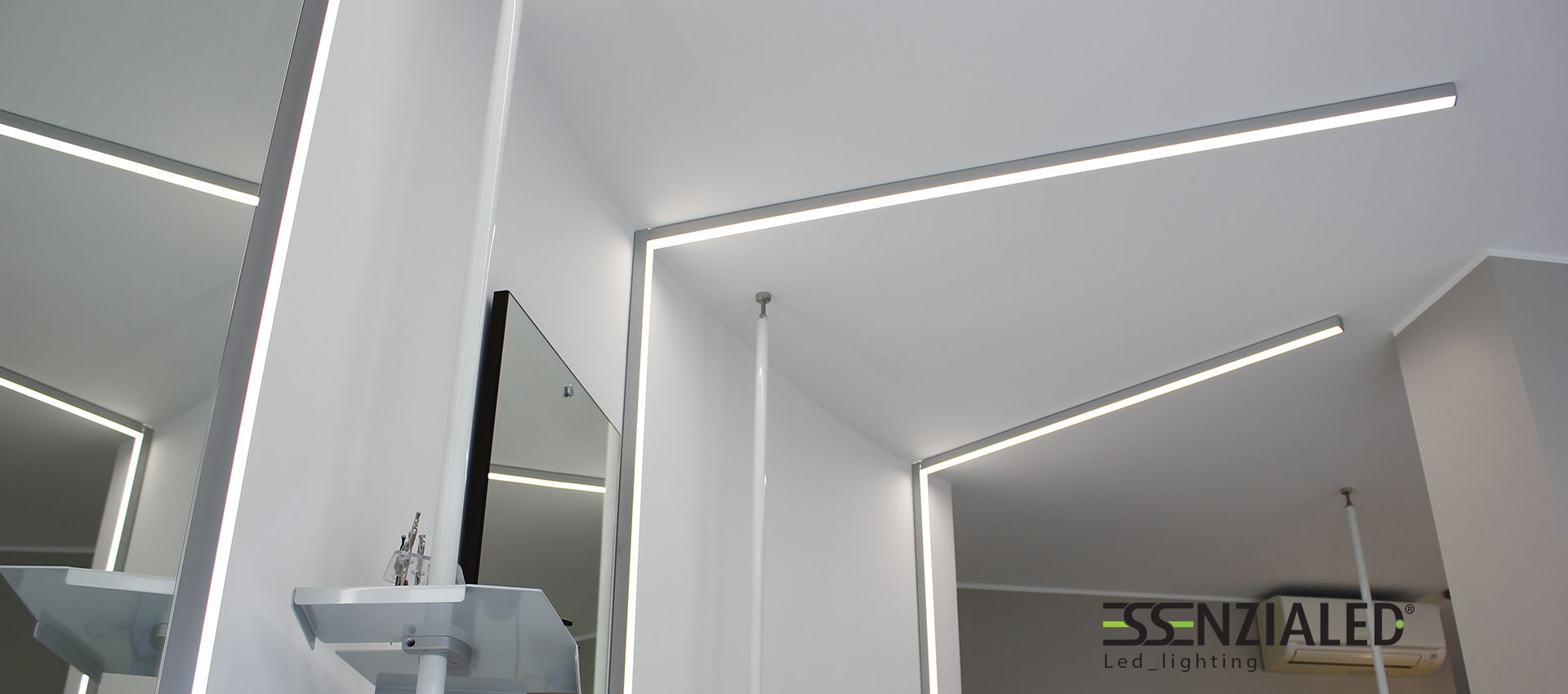 Luci a led per soffitto gi46 pineglen for Illuminazione a binario a led